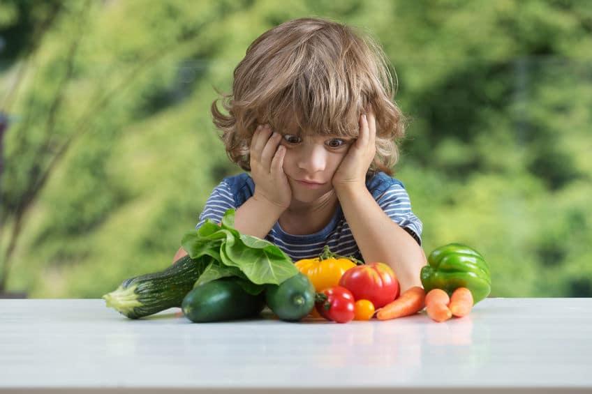 maman cinglante enfant légume lunch