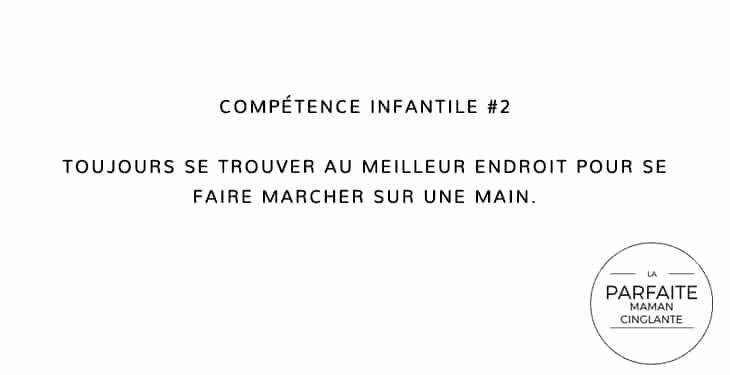 COMPÉTENCE INFANTILE 2 MAIN