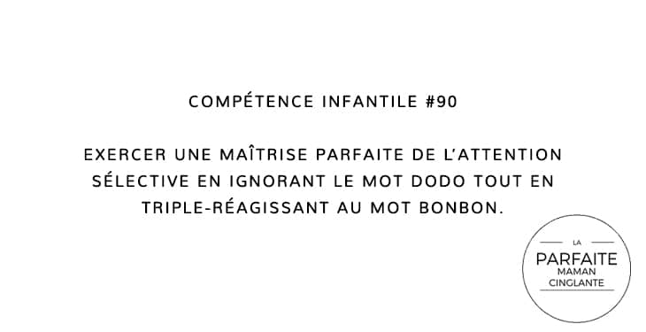 COMPETENCE INFANTILE 90 ATTENTION SELECTIVE