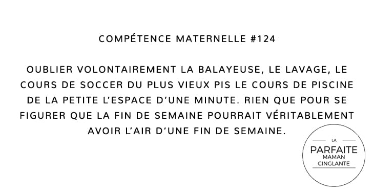COMPETENCE MATERNELLE 124 OUBLI VOLONTAIRE