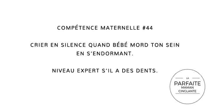 COMPÉTENCE MATERNELLE 44 MORDRE LE SEIN