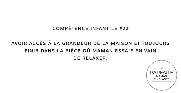 COMPETENCE INFANTILE 22 RELAXER