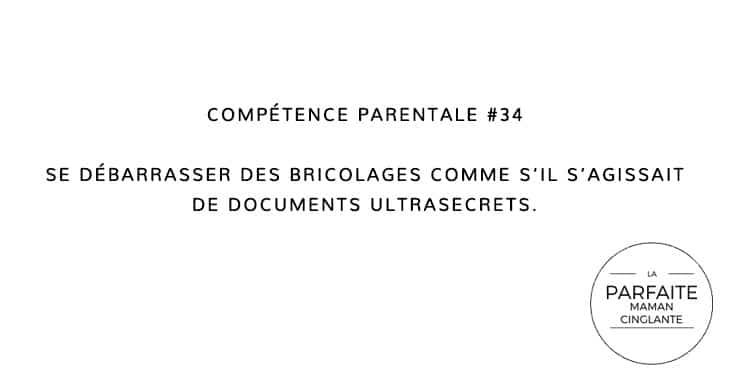COMPETENCE PARENTALE 34 BRICOLAGES