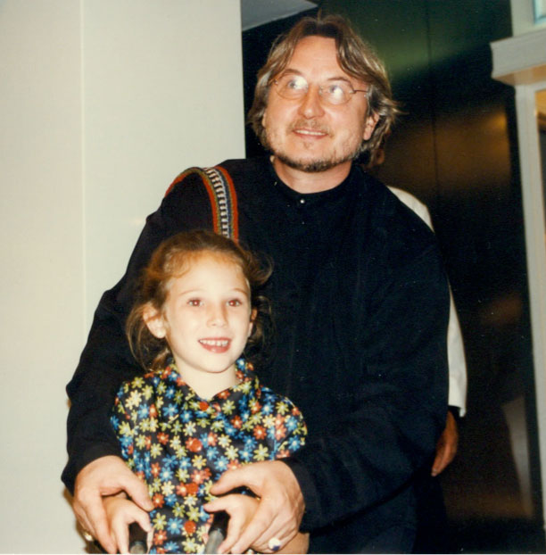 Paris and her godfather, Horst Rechelbacher, the founder of Aveda. | Source: Neill
