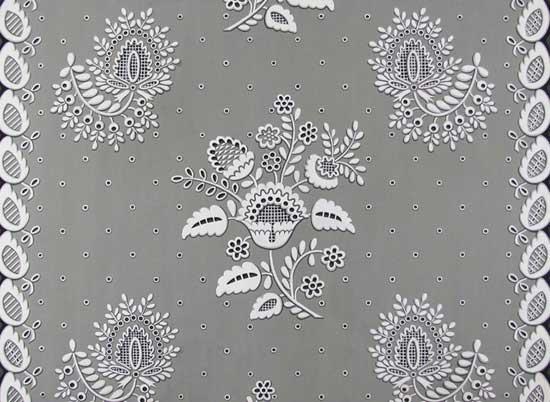 "Eleanor Harrington White Embroidery for 36"" Chintz"