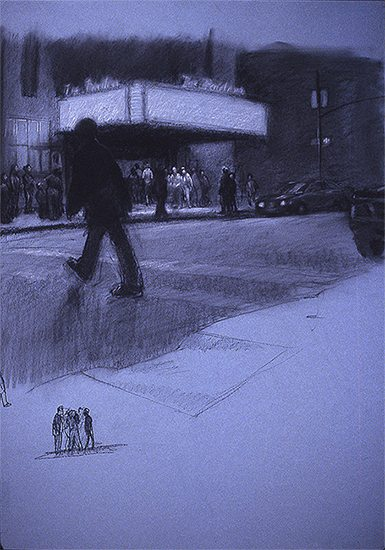 Eric March Pavilion Study - Man Walking