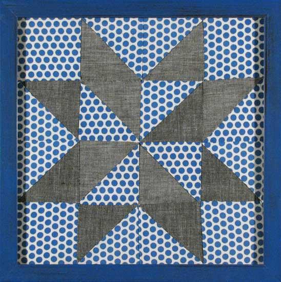 Polka Dot Star Quilt Square c.1930