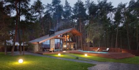 Ланшафтный дизайн деревянного дома