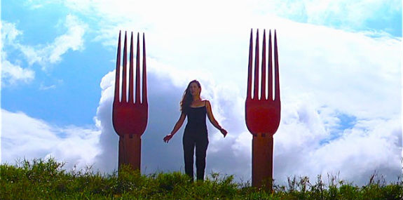 How much fo you love forks? Not as much as artist Laura Facey.