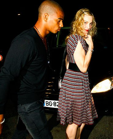 Madonna and her much younger beau, Brahim Zaibat, dined at the Colombe d'Or Restaurant in Saint Paul de Vence, South of France Thursday.
