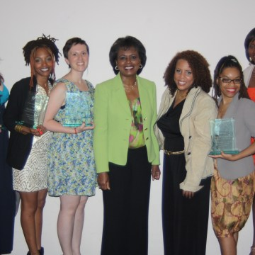 Courtesy of B Photography. GGE Honorees L to R: Mandy Van Deven, Nicole Hamilton, Meghan Huppuch, Anita Hill, Joanne Smith, Nefertiti Martin, and Nia Oden.