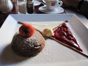 Dessert after walk at Potrefena husa's on Vinohradska