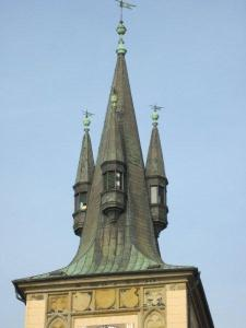 tower close up in Prague
