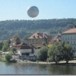 tethered balloon over Prague