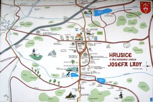 Josef Lada village map