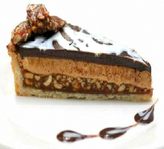 ouble Chocolate Peanut Butter Caramel Tart