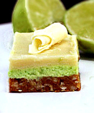 Easy White Chocolate Key Lime Nanaimo Bars with a Coconut Macadamia Graham Cracker Crust