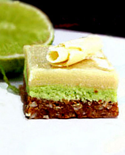 White Chocolate Key Lime Nanaimo Bars