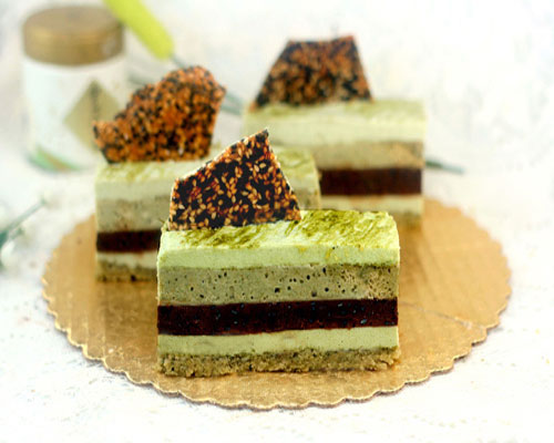 Green Tea - Pistachio - Chocolate - Sesame Mousse Cakes aka I Don't Know What To Call These