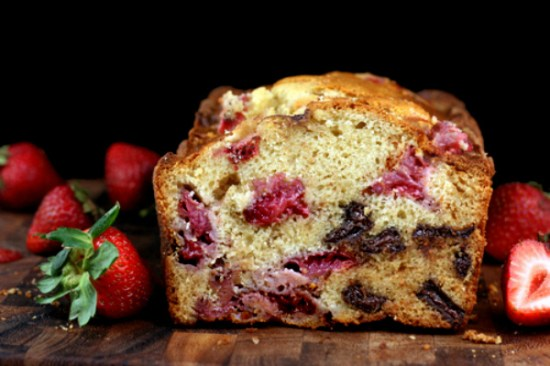 Chocolate Chunk Strawberry Malted Loaf