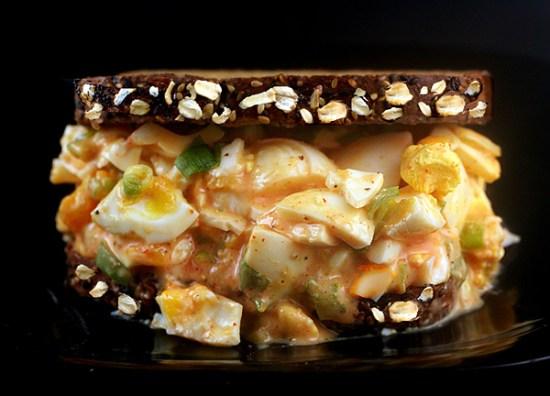 Honey Oatmeal Walnut Bread with Poppy Seeds plus the BEST Sriracha Egg Salad!