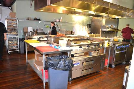 kitchen interior design of olio restaurant jacksonville