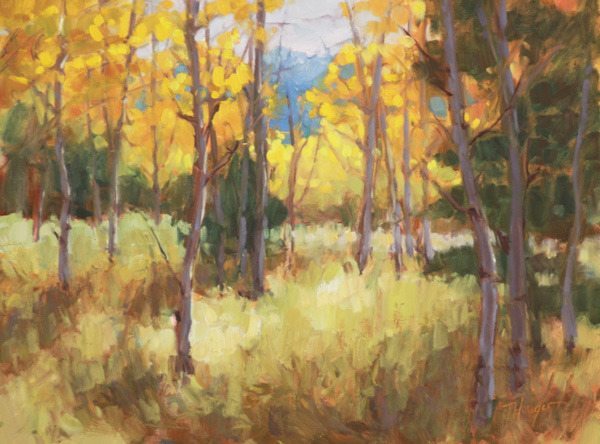 Original Oil- Autumn Aspen