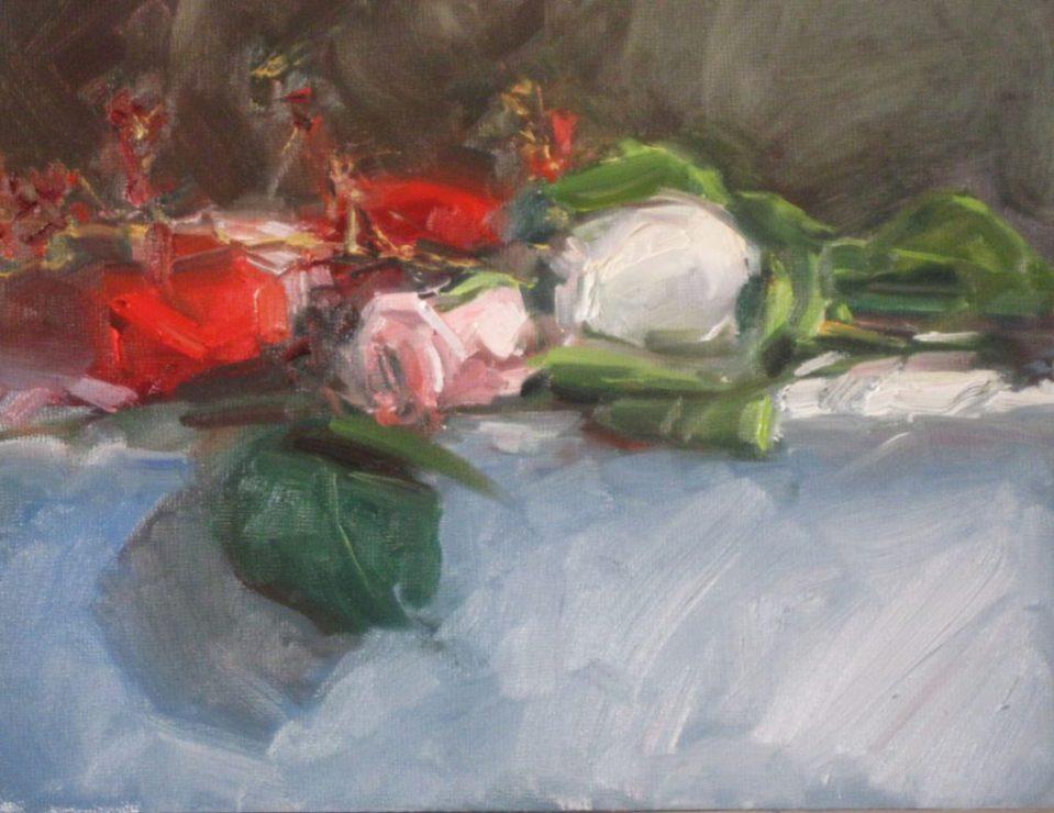 Original oil- Roses