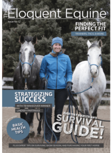 On the cover of Eloquent Equine Magazine