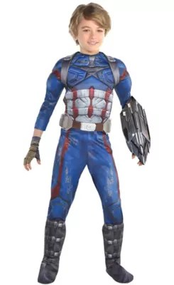 Boys Captain America Costume   Avengers Infinity War   Party City