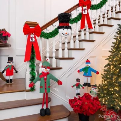 Snowman Theme Holiday Decorating Ideas   Party City   Party City Friendly Snowman Greeter Decor Idea