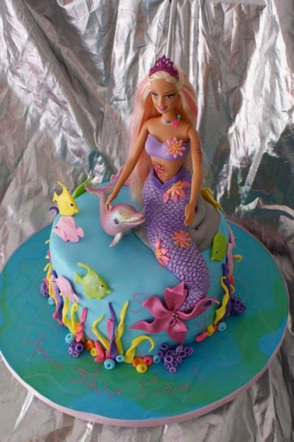 Barbie Mermaid Cake Images : 8 Mermaid Themed Birthday Cakes   Party Ideas
