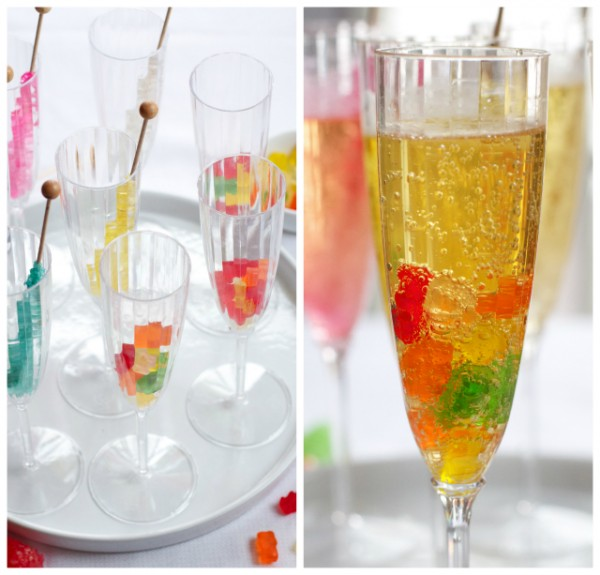 Rock Candy Filled Champagne Glasses: Treat Little Ones To Festive New Year's Eve Mocktails