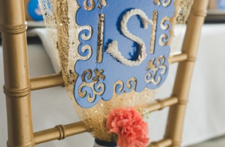 DIY Monogramed Chair Back