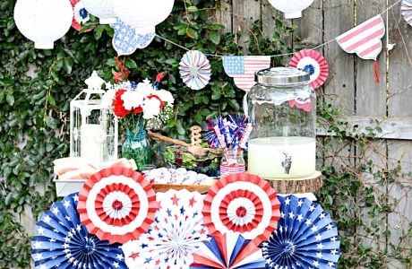 Quick 4th Of July Drinks Table