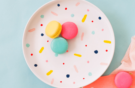 DIY Confetti Charger Plates