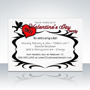 Popular Anti-Valentine's Day Party Singles Invitations