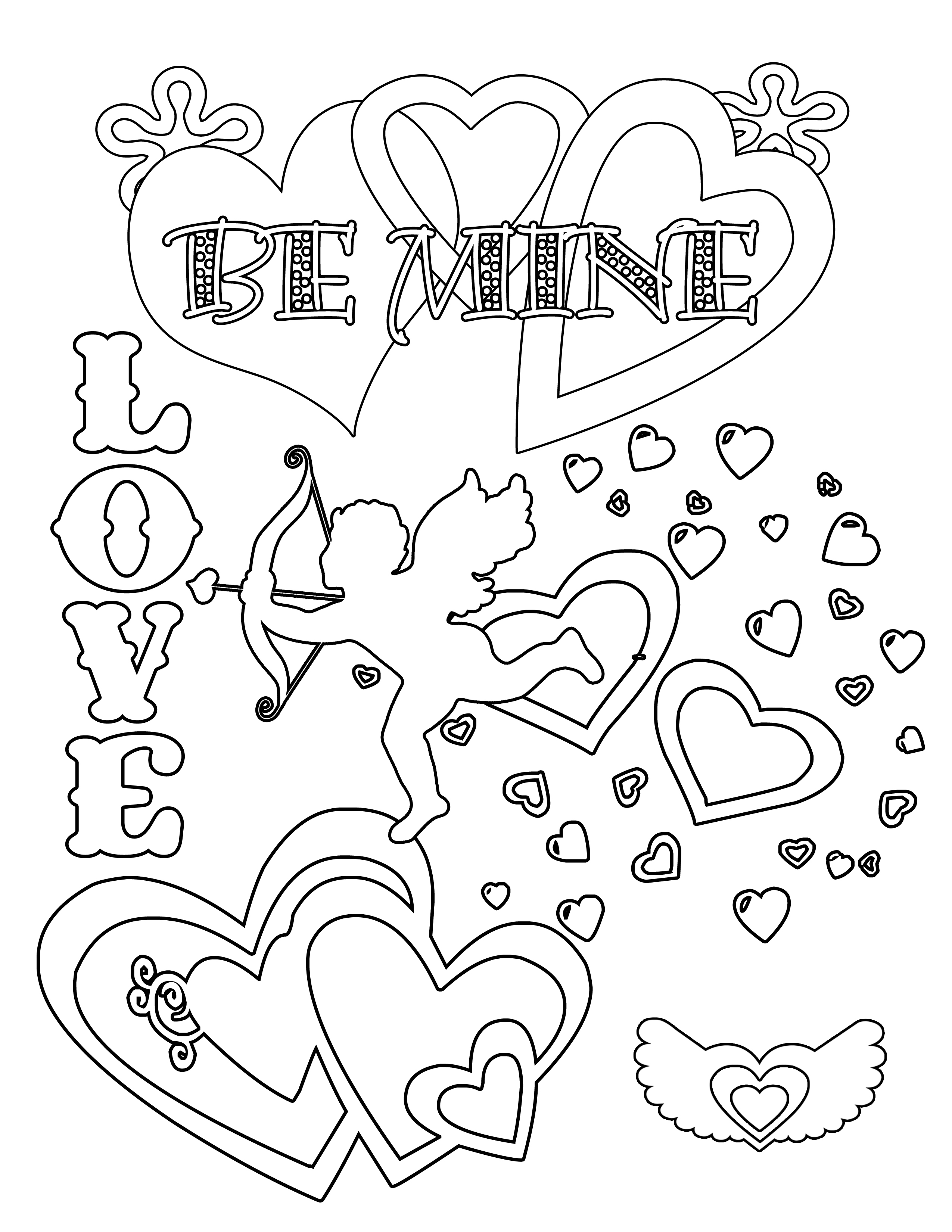 Party Simplicity Free Valentines Day Coloring Pages And Printables