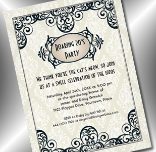 art deco roaring 20s invitation - party simplicity