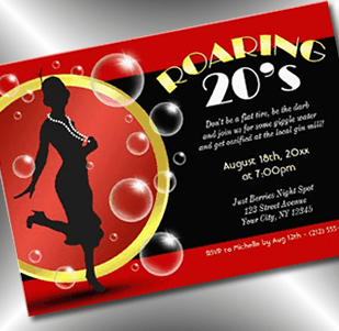 flapper giggle juice roaring 20s invitation - party simplicity