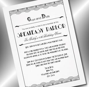 speakeasy roaring 20s invitation - party simplicity