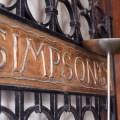 Passagem Gastronômica - Restaurante Simpson's - Londres