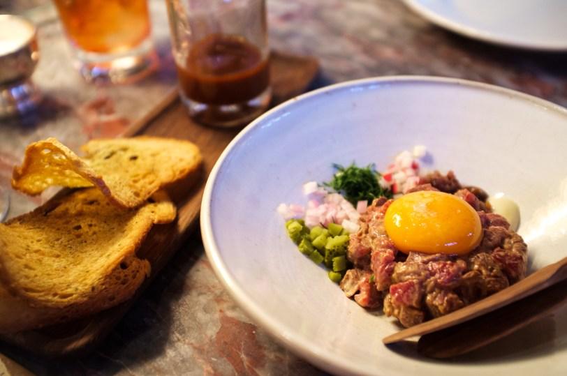 Passagem Gastronômica - Steak Tartare - Chiltern Firehouse