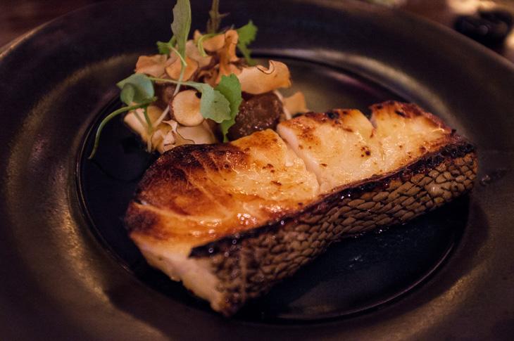 Passagem Gastronômica - Mizo Glazed Chilean Sea Bass - Restaurante Sexy Fish - Londres