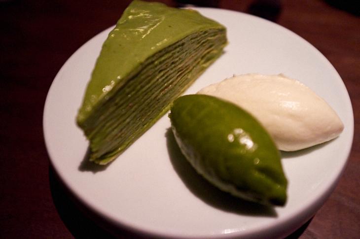 Passagem Gastronômica - Sobremesa de chá verde - Restaurante Sosharu - Londres