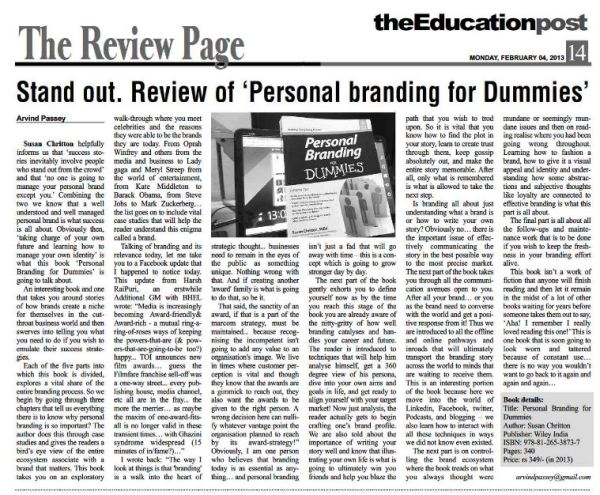 2013_02_04_Review of Personal Branding for Dummies