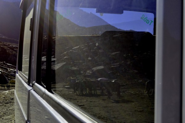 Journey to Kaza - Part of Rohtang captured in a reflection!