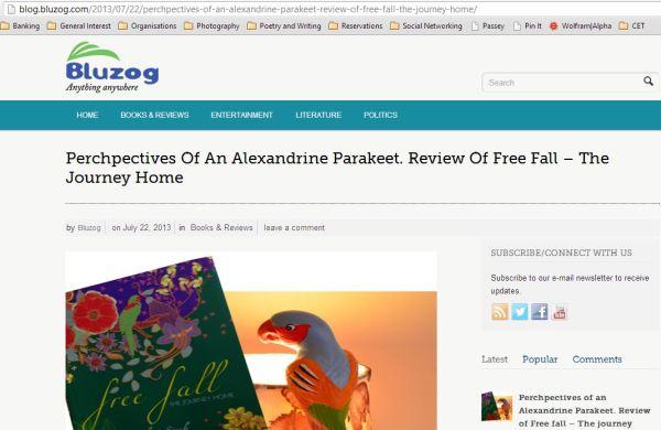 2013_07_04_Review on BLUZOG_Perchpectives of an Alexandrine parakeet