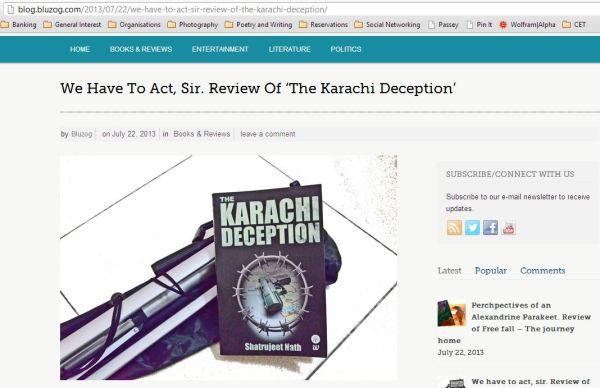 2013_07_04_Review on BLUZOG_The Karachi Deception