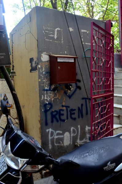 Pretensions? In the Village? Well... can graffiti be wrong?
